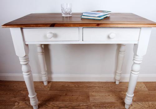Baxton Studio Edouard French Provincial Style White Wash Distressed Two-tone Writing Desk
